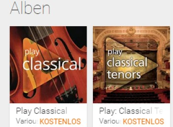 """Play: Classical Tenors"" mit neun MP3s zum Gratis-Download"