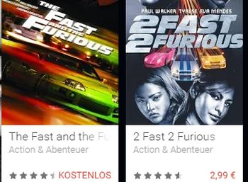 """""""The Fast and the Furious"""" gratis"""