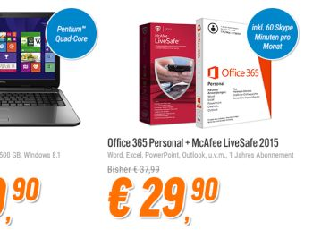 Office 365 Personal mit McAfee Live Safe