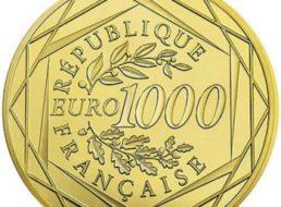 Ebay: Goldmünze mit Nennwert 1000 Euro für 1000 Euro frei Haus
