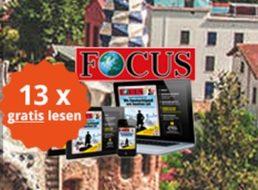 Gratis: 13 x Focus Digital im Wert von 42,77 Euro zum Nulltarif