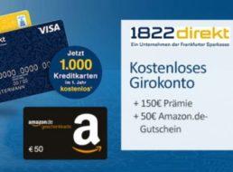 Knaller: 200 Euro Bonus zum kostenlosen Girokonto der 1822direkt