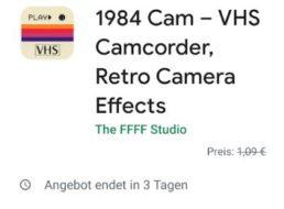"Gratis: App ""1984 Cam"" bei Google Play zum Nulltarif"