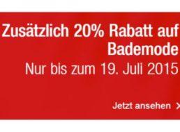 Galeria Kaufhof: 20 Prozent Rabatt auf reduzierte Bademode
