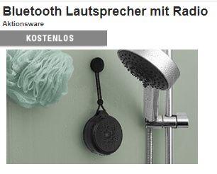 Druckerzubehoer: Wasserfester Bluetooth-Lautsprecher mit Radio als Gratis-Beigabe