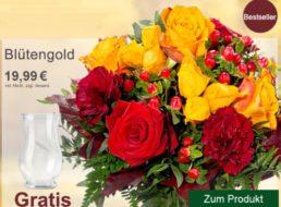 Flora Prima: Herbstlicher Strauß mit Vase für 25,98 Euro frei Haus
