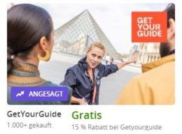 Getyourguide: 15 Prozent Rabatt auf Eintritte und Führungen via Groupon
