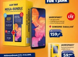 "Aldi Talk: ""Mega Bundle"" mit Allnet- & LTE-Flat & Galaxy A10 für 159 Euro"