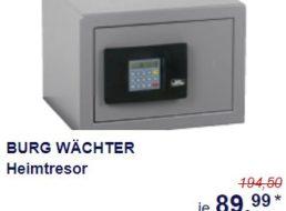 Burg-Wächter: Heimtresor bei Aldi-Süd für 89,99 Euro