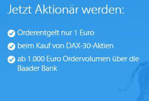 DKB: Ein Euro Ordergebühr für DAX-Aktien in dieser Woche