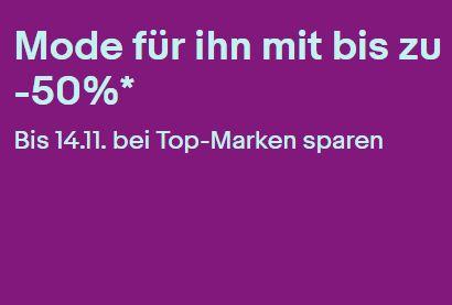 Ebay: Männermode mit bis zu 50 Prozent Rabatt für eine Woche
