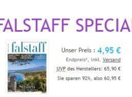Falstaff: Jahresabo mit 93 Prozent Rabatt für 4,95 Euro