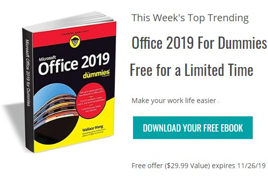 "Gratis: eBook ""Office 2019 for Dummies"" zum Nulltarif"
