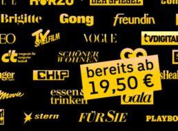 Leserervice: Halbjahresabo ab 19,50 mit Gutschein über 25 Euro