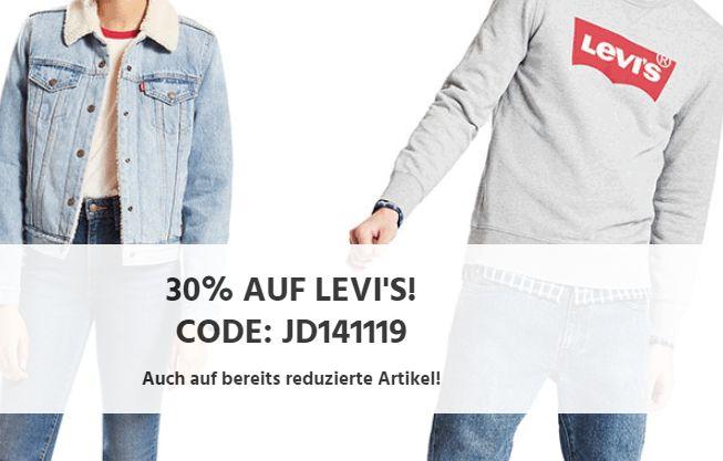 Jeans Direct: Levis-Artikel mit 30 Prozent Rabatt bis Sonntag