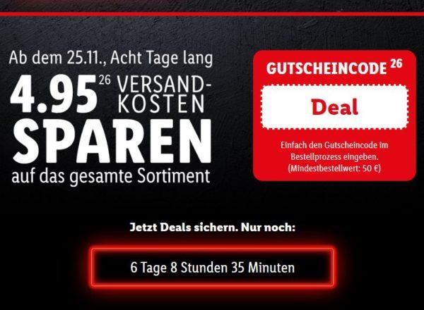Lidl: Deal-Days mit Gratis-Versand ab 50 Euro Warenwert