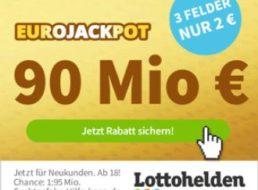 Euro-Jackpot: Rekordsumme von 90 Millionen – Gratis-Spiefeld