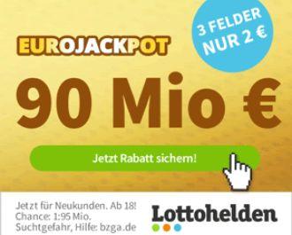 Euro-Jackpot: Rekordsumme von 90 Millionen - Gratis-Spiefeld