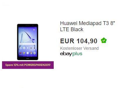 Ebay: Huawei Mediapad T3 mit LTE für 94,41 Euro frei Haus