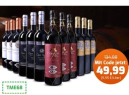 Weinvorteil: Goldprämiertes Spanien-Weinpaket für 49,99 Euro frei Haus