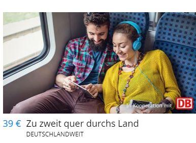 """Travelzoo: """"Quer durchs Land""""-Tickets für 39 statt 52 Euro"""