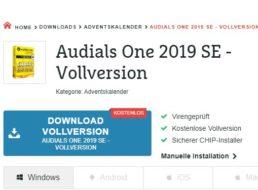 Gratis: Audials One 2019 SE bei Chip zum kostenlosen Download