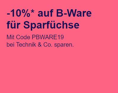 Ebay: 10 Prozent Rabatt auf reduzierte B-Ware