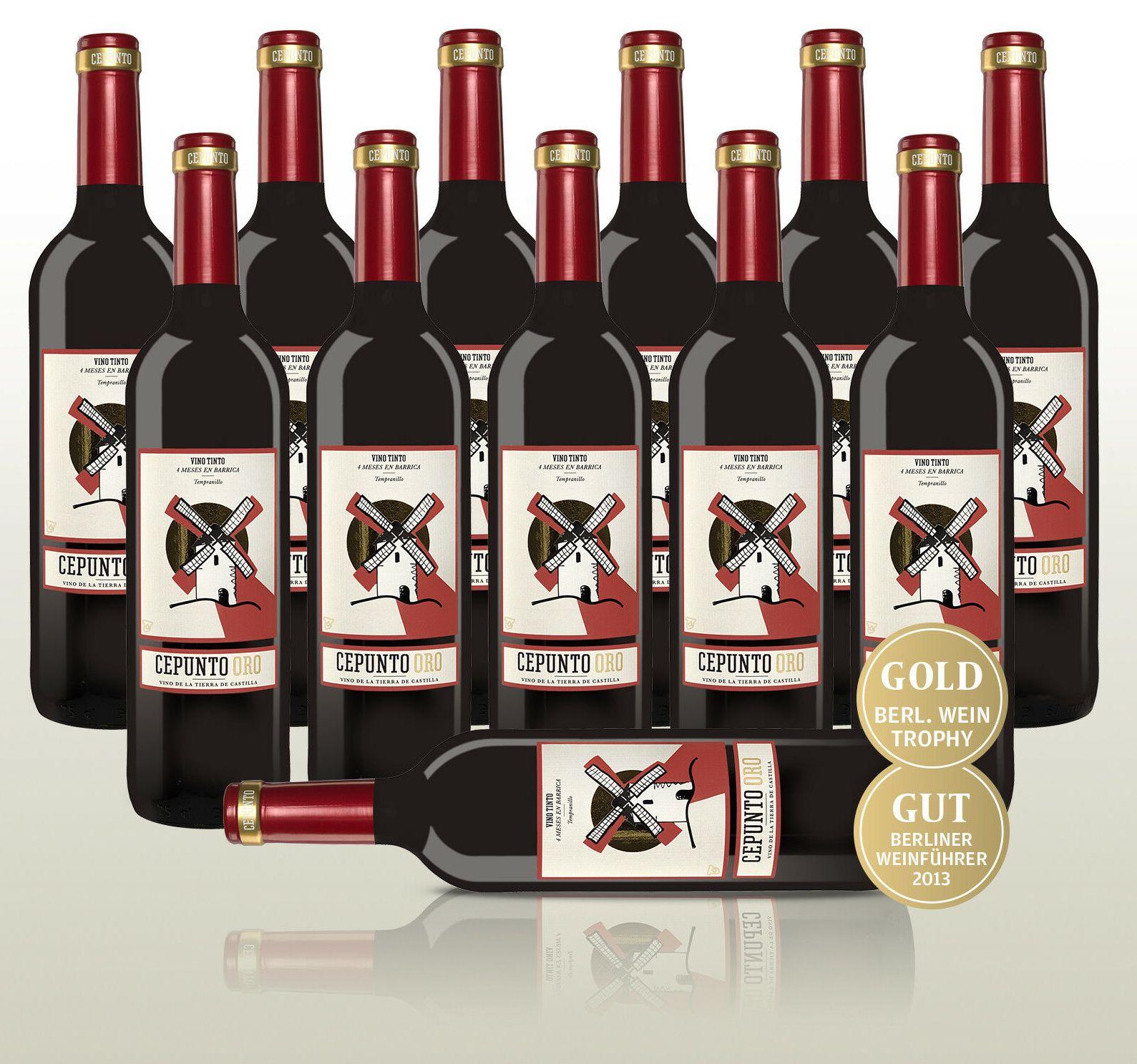 Ebay: Zwölferpaket goldprämierter Rotwein für 35,90 Euro frei Haus