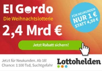 El Gordo 2019: Weihnachtslotterie mit Losen ab 1 Euro
