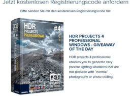"Gratis: ""HDR Projects 4 Professional"" für 0 statt 143 Euro"