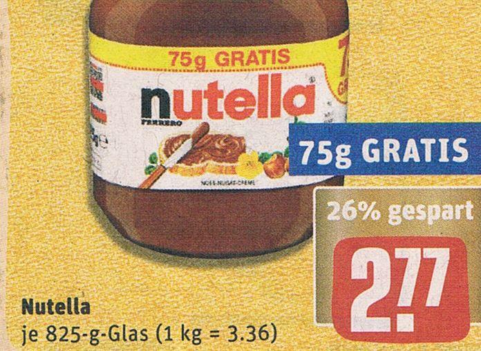 Rewe: Nutella zum Kilopreis von 3,19 Euro dank Payback