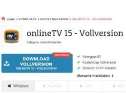 """Gratis: """"Online TV 15""""-Vollversion im Chip-Adventskalender"""