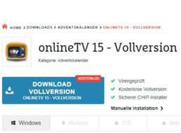 "Gratis: ""Online TV 15""-Vollversion im Chip-Adventskalender"