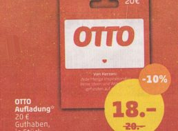 Penny: Otto-Guthabenkarten mit zehn Prozent Rabatt