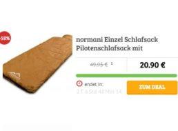 Dealclub: Pilotenschlafsack mit guten Bewertungen für 20,90 Euro