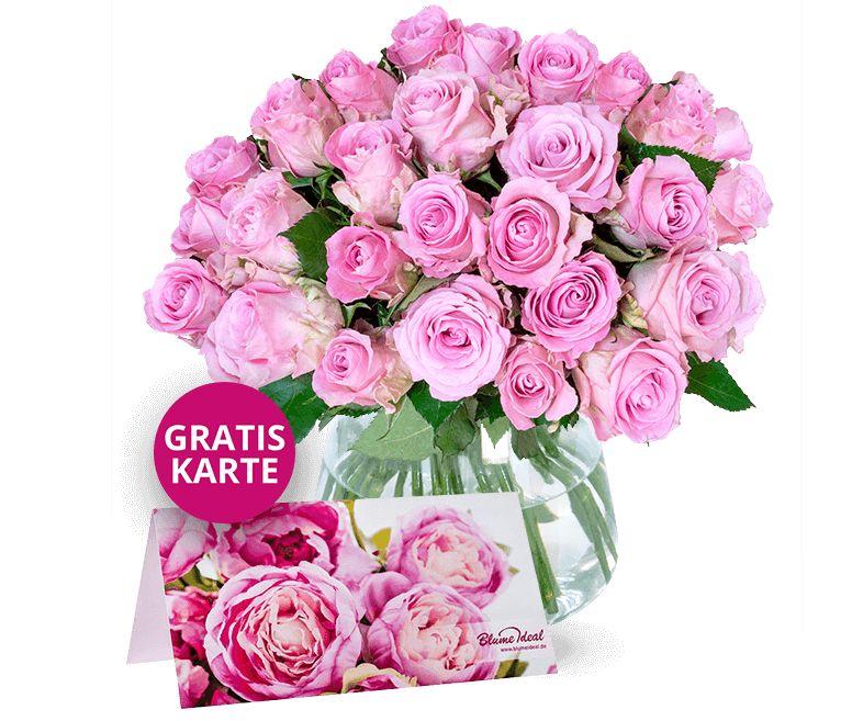 Blumeideal: Rosenstrauß mit Gratis-Karte für 22,98 Euro