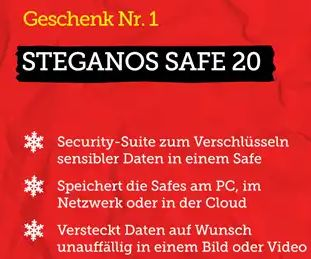 Gratis: Steganos-Safe und Software-Updater im Heise-Adventskalender