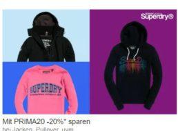 Superdry: Sale bei Ebay mit 20 Prozent Extra-Rabatt