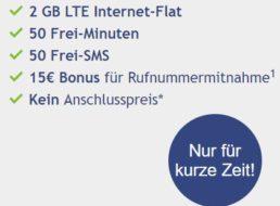Vodafone: Smart Surf LTE mit zwei GByte LTE für 3,99 Euro im Monat