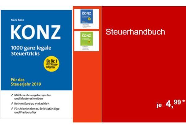 """Aldi-Süd: """"1000 ganze legale Steuertricks"""" von Konz für 4,99 Euro"""