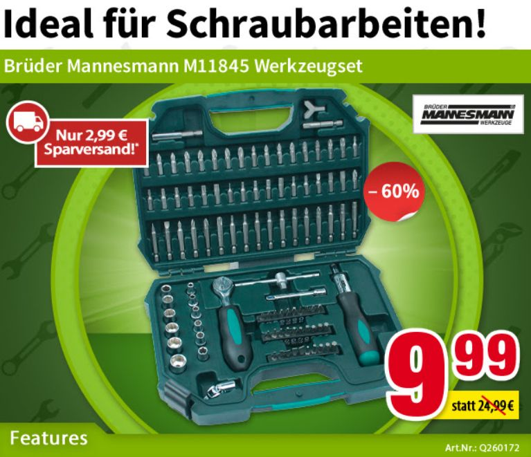 Völkner: 101-teiliges Werkzeugset für 12,98 Euro frei Haus