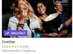 Groupon: Cinestar-Gutschein mit Überlänge und Popcorn für 9,90 Euro