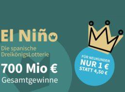 El Nino: Los ab 1 Euro für die spanische Dreikönigslotterie