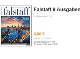 Falstaff: Jahresabo mit automatischem Ende für sechs Euro