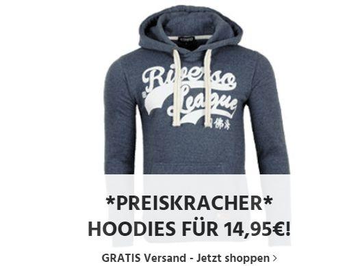 Jeans Direct: Riverso-Hoodies für 14,95 Euro frei Haus