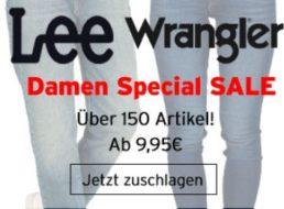 Jeans Direct: Markenjeans von Lee und Wrangler ab 9,99 Euro