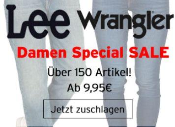 Jeans Direct: Markenjeans von Lee und Wrangler ab 19,99 Euro