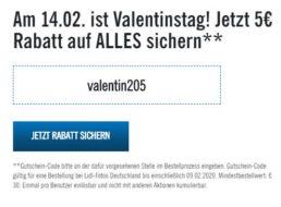 Lidl-Fotos: 5 Euro Rabatt auf alles ab 30 Euro Bestellwert