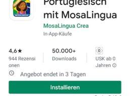 "Gratis: App ""MosaLingua Premium"" für 0 statt 5,49 Euro"