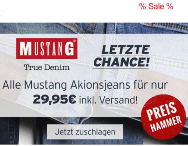 Jeans-Direct: Mustang-Jeans und Chinos für 29,95 Euro frei Haus